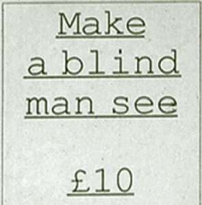 Help the Aged - £10 can make a blind man see