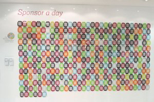 Royal Marsden Sponsor a Day WALL
