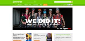 Greenpeace celebrates six climbers scaling The Shard