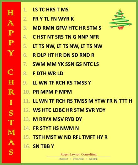1. LS TC HRS T MS 2. FR Y TL FN WYR K 3. MD RMN GFW HTC HR STM S 4. C HST NT SRS TN G NNP NFR 5. LT TS NW, LT TS NW, LT TS NW 6. R DLP HT HR DN SD RND R 7. SWM MM YK SSN GS NTC LS 8. F DTH WR LD 9. LL WN TF RCH RS TMSS Y 10. PR MPM P MPM 11. LL WN TF RCH RS TMSS M YTW FR N TTT H 12. WS HTC LDBC HR STM SVR YDY 13. M RRYX MSV RYB DY 14. FR STYT HS NWM N 15. TSTH MST W ND RFL TMFT HY R 16. SN TBB Y